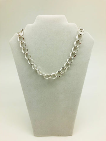 Silver color Cuban Style Necklace
