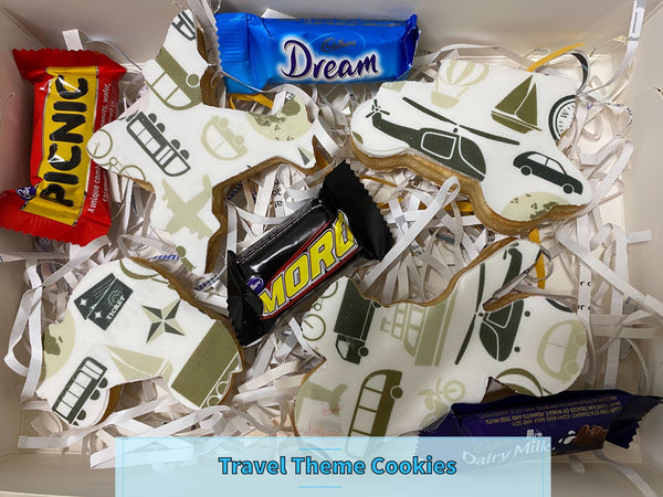 FATHER'S DAY COOKIE PACK - TRAVEL THEMED COOKIE PACK