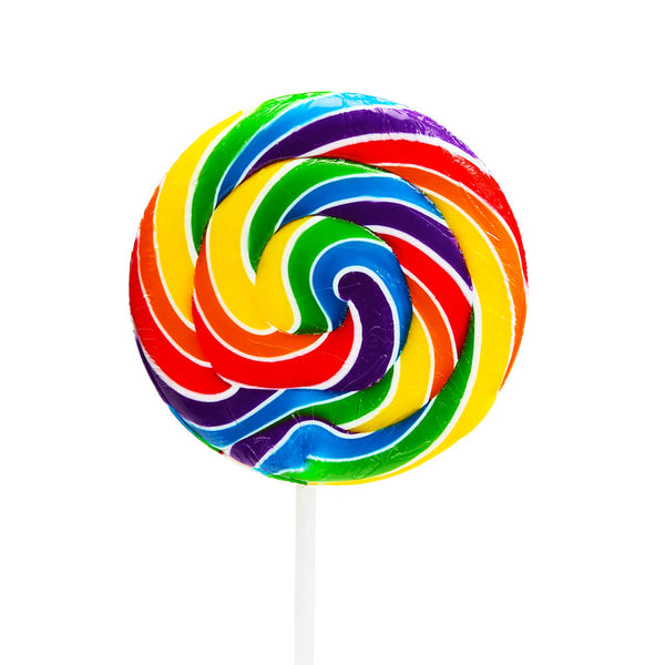 SWEETWORLD SWIRLY POP - RAINBOW - 50G