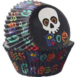 Wilton Baking Cups - 'Boo' with Skeleton