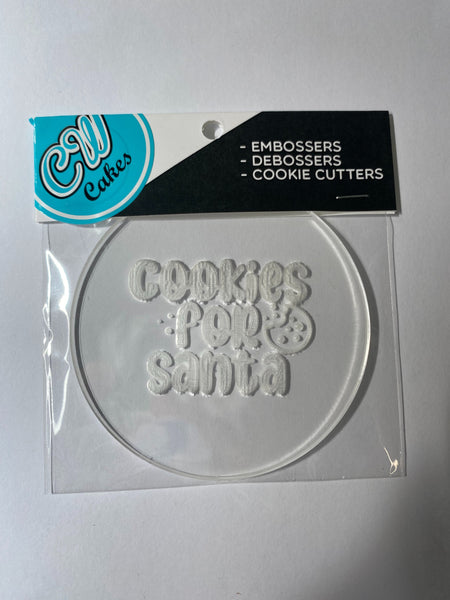 'Cookies For Santa' Debosser