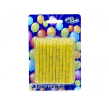SPIRAL CANDLES YELLOW GLITTER - FLOUR POWER