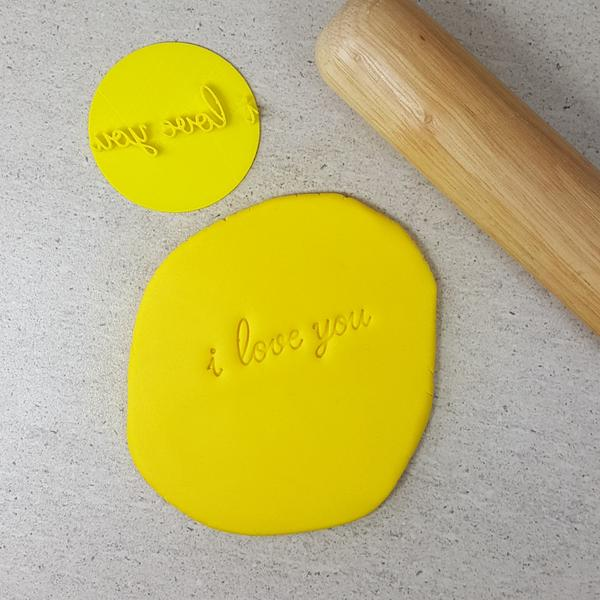 Custom Cookie Cutters - i love you Embosser