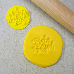 Custom Cookie Cutters - Baby Girl Embosser