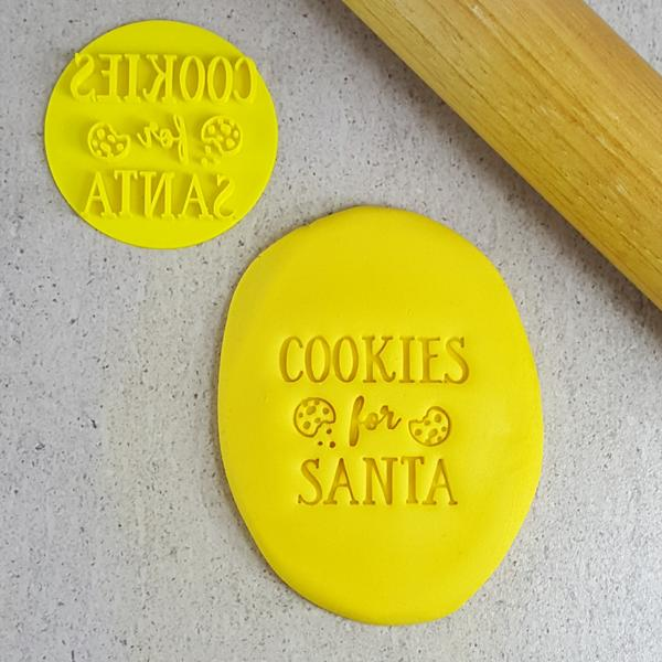 Custom Cookie Cutters - Cookies for Santa Embosser