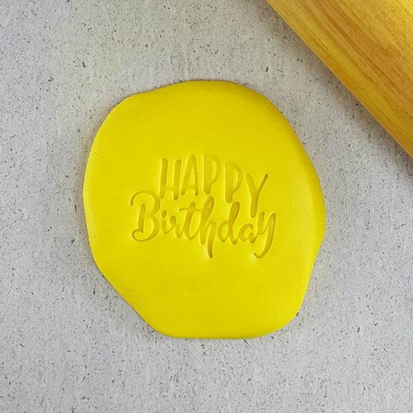 Custom Cookie Cutters - Happy Birthday Embosser