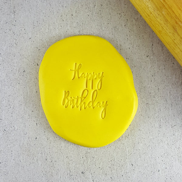 Custom Cookie Cutters - Happy Birthday V2 Embosser