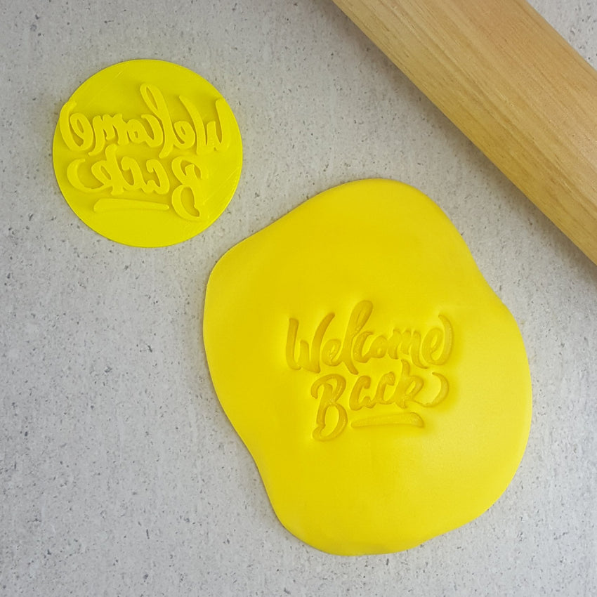 Custom Cookie Cutters - Welcome Back Embosser