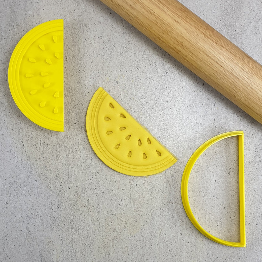 Custom Cookie Cutters - Watermelon Embosser & Cutter