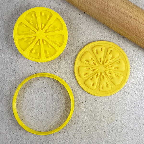 Custom Cookie Cutters - Citrus Slice Embosser & Cutter
