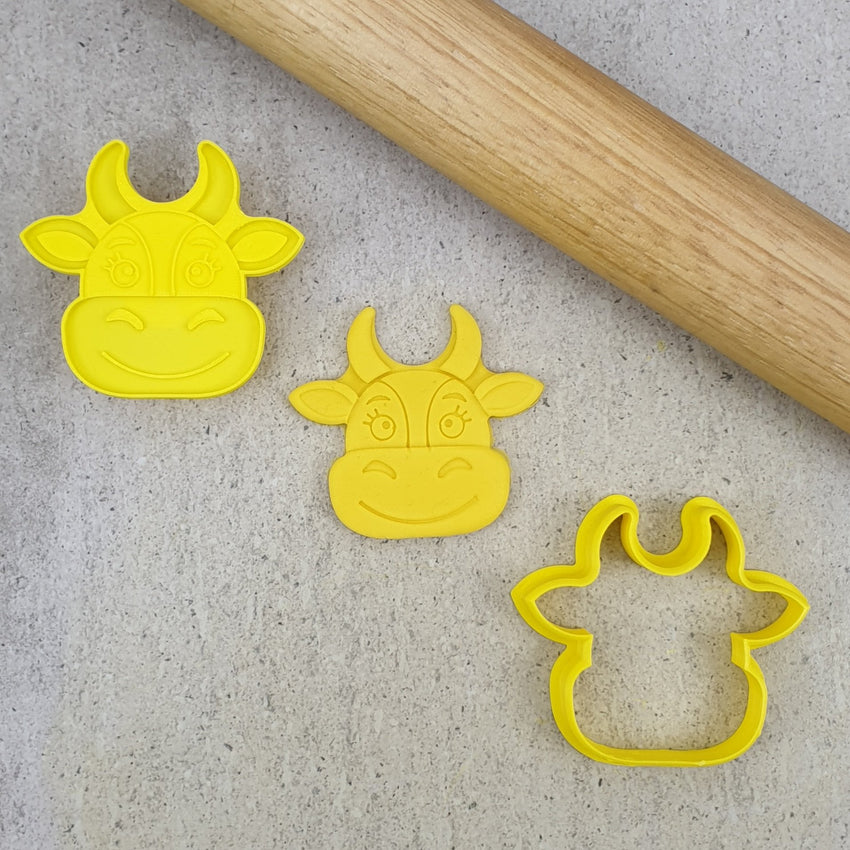 Custom Cookie Cutters - Cow Debosser & Cutter