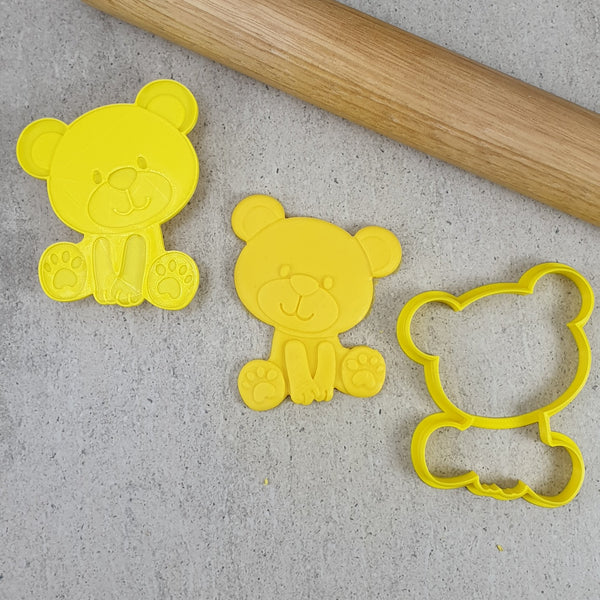 Custom Cookie Cutters - Teddy Bear Cutter and 3D Embosser