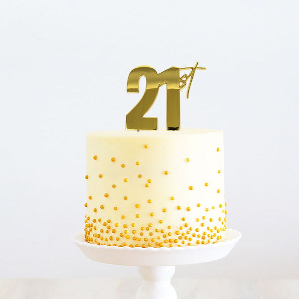 """21ST"" METAL TOPPER GOLD"