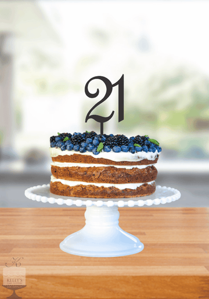 Kelly's Cake Toppers - Double Numbers - 21 - Black