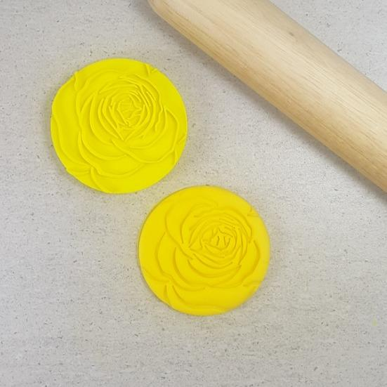 Custom Cookie Cutters - Rose Bloom Flower Embosser