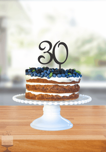 Kelly's Cake Toppers - Double Numbers - 30 - Gold