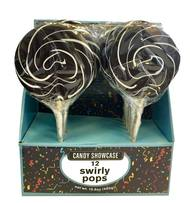 CANDY SHOWCASE - BLACK SWIRLY POP 50G
