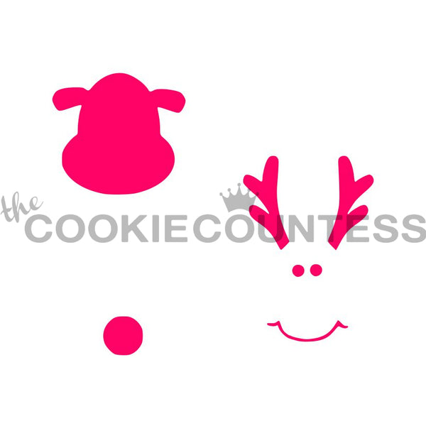 The Cookie Countess - Rudolph Face Parts