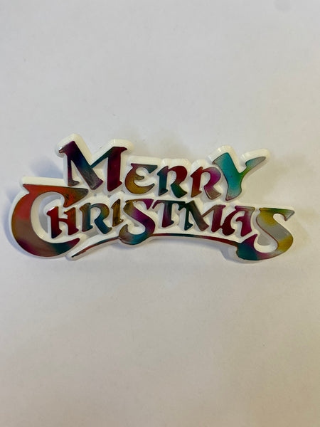 Metallic 'Merry Christmas' Topper