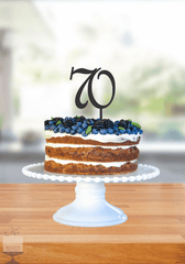 Kelly's Cake Toppers - Double Numbers - 70 - Silver