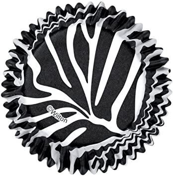 Wilton ColorCups Black/White Zebra Standard Baking Cups, 36 Count