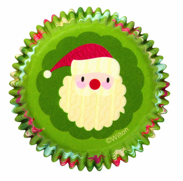 Wilton Christmas Baking Cups Santa Face