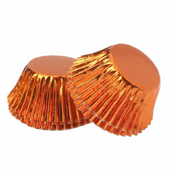 Foil Cupcake Cups Orange x 25 Pack