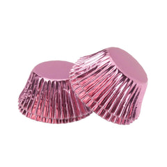 Foil Mini Cupcake Cups Baby Pink x 40 Pack