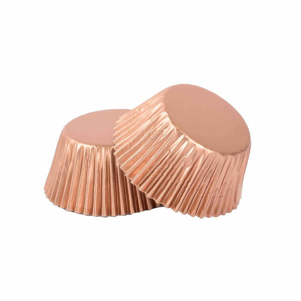Foil Mini Cupcake Cups Rose Gold x 40 Pack