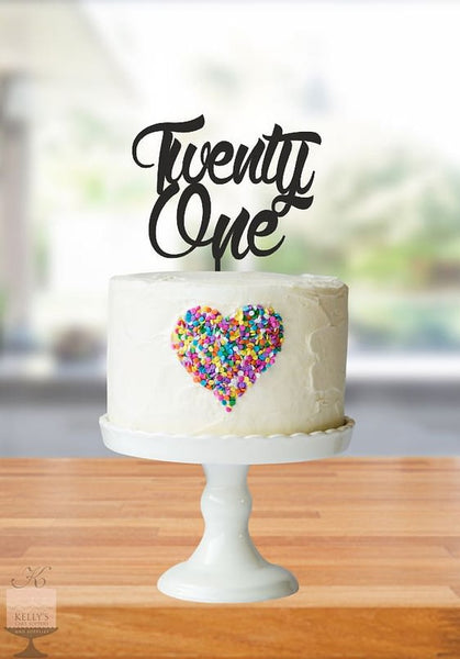 Kelly's Cake Toppers - Twenty One - Gold