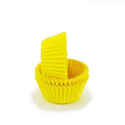 Paper Cupcake Case Yellow Pkt 20