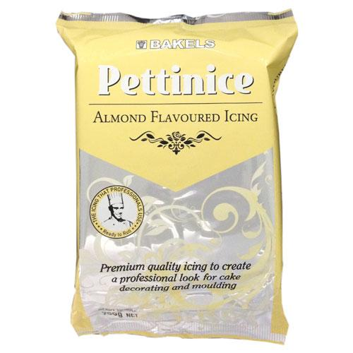 ALMOND FLAVOURED Bakels Pettinice Fondant Plastic Icing Factory Foil Packed 750G RTR ROLLED