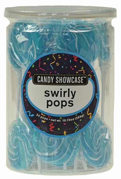 CANDY SHOWCASE - BLUE SWIRLY POP - 15G