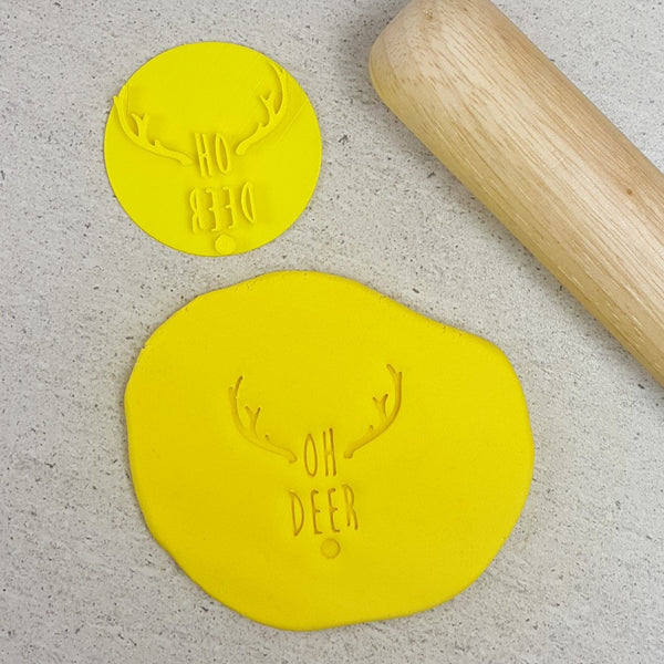 Custom Cookie Cutters - Oh Deer Embosser