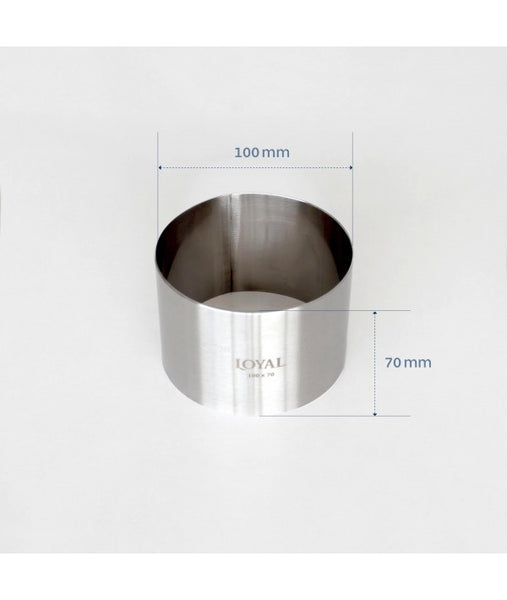 Mousse Ring - 100mm FOOD/STACKER RING S/S