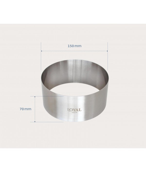 Mousse Ring - 150mm FOOD/STACKER RING S/S