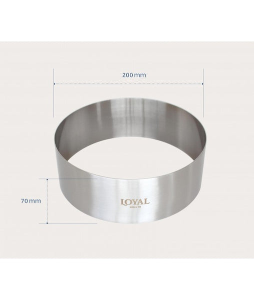 Mousse Ring - 200mm FOOD/STACKER RING S/S