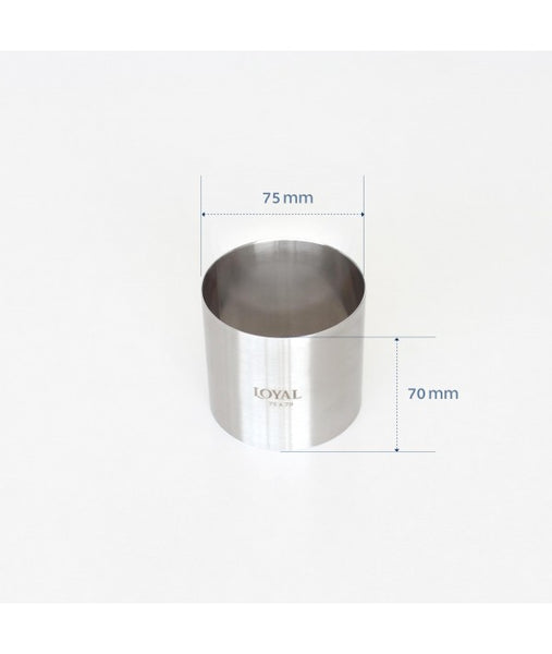 Mousse Ring - 75mm FOOD/STACKER RING S/S