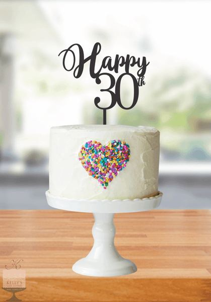 Kelly's Cake Toppers - Happy Age - 30- Gold