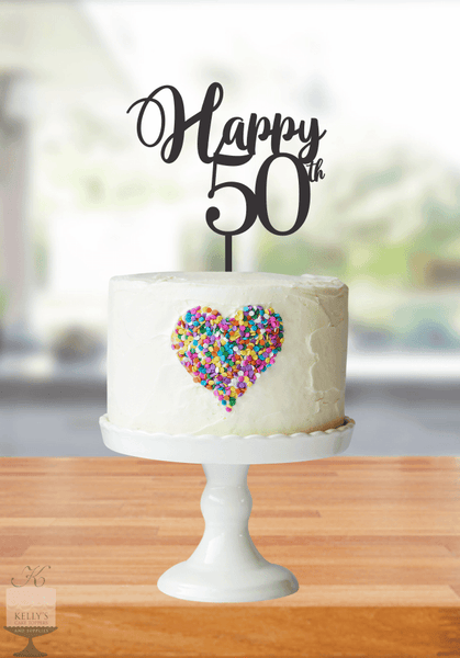 Kelly's Cake Toppers - Happy Age - 50 - Rose Gold