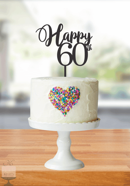 Kelly's Cake Toppers - Happy Age - 60 - Silver