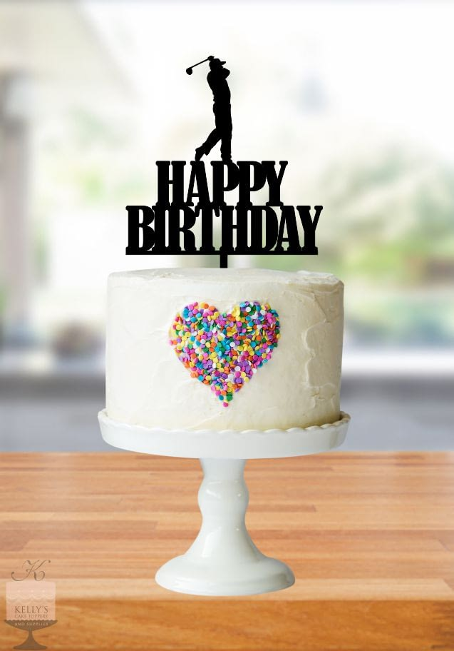 Kelly's Cake Toppers - Happy Birthday sport and Recreation - Golfer