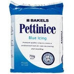 BLUE Bakels Pettinice Fondant Plastic Icing Factory Foil Packed 750G RTR ROLLED (5358282997915)