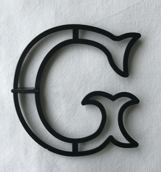 EXTRA LARGE Letter G -  PATCHWORK CUTTERS - INDIVIDUAL
