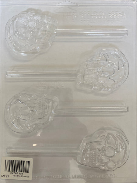 Skull Plastic Chocolate/ Lolly Mould