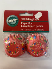Wilton Mini Baking/ Treat Cups - Merry & Bright