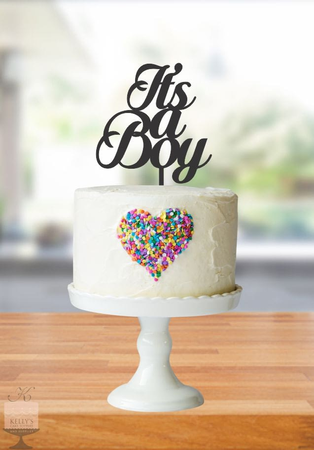 Kelly's Cake Toppers - It's a Boy - Silver
