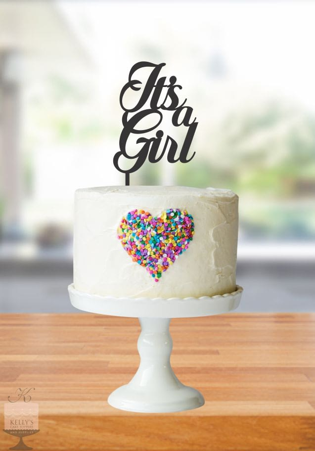 Kelly's Cake Toppers - It's a Girl - Silver