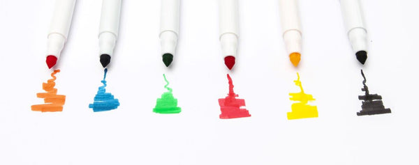EDIBLE INK MARKER PENS (6 COLOURS) SET NO. 1 - BY SUGAR CRAFTY**