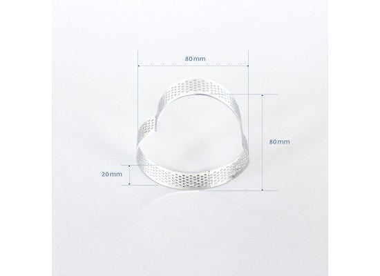 Loyal Bakeware - 80mm PERFORATED RING S/S